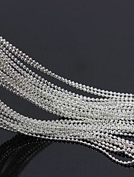 10Meters 3D Silver Plated Metal Round Ball Beads Line Chains Nail Art Decoration
