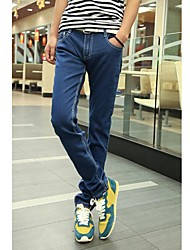 St.Antonio ™ Männer beiläufige dünne Hose gerade Jeans Denim Jeans