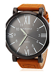JUBAOLI® Men's Watch Military Roman Numeral Big Black Dial Casual Watch Cool Watch Unique Watch Fashion Watch