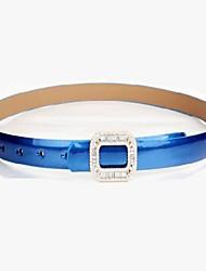Women's diamond bright side thin belt