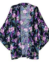 Женская Печать кимоно квартал рукава Кардиган Верхняя одежда