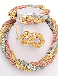 westernrain Frauen Legierung Rhinestone-Multi-Color-Twisted-String-Set