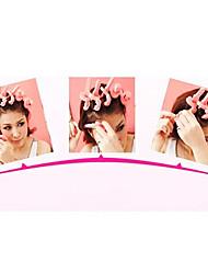 6Pcs Soft Sponge Key Shaped Hair Care Roller Set