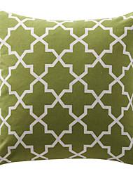 lona de algodão verde oliva treliça decorativo travesseiro