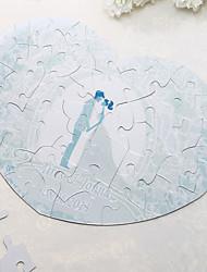 Coeur personnalisé Jigsaw Puzzle en forme - Jour de mariage
