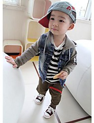 Boy's Cotton/Denim Hoodie & Sweatshirt , Winter/Spring/Fall Long Sleeve