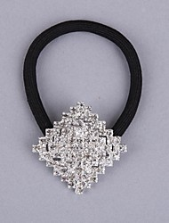Alloy with Rhinestone Hair Ponytail Holders
