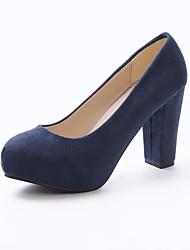 Черный / Синий / Розовый / Красный - Женская обувь - Для праздника - Замша - На толстом каблуке - На каблуках - Обувь на каблуках