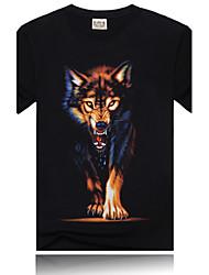 Men's T-Shirts , Cotton Casual Black Rock