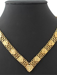U7 Vintage Hearts 18K Chunky Yellow Gold Plated Choker Necklace Chain 18Inches 46CM