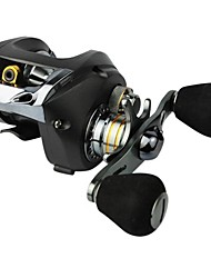 8BB Baitcasting Fishing Reel Left Hand 0.30/90mm/m Black