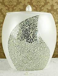 1 pièce résine de déchets de matériaux bin, accessoire de salle de bains