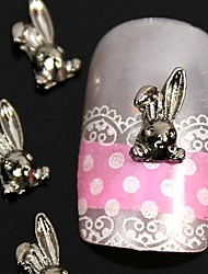 10pcs  3D DIY Rabbit Alloy Nail Art Decoration