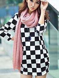 Women's Fashion Loose Print Wool Long Style T-shirt
