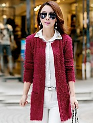 Women's V Neck Midi Slim Knitwear Cardigan Sweater
