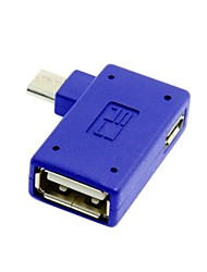 rechtwinklige 90-Grad-Micro-USB-OTG-Host-Adapter mit Flash-Disk Micro Power für Galaxy Hinweis 3 S3 / S4 / i9500