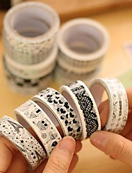 Black And White Decorative Tape(Random Color 1 PCS)