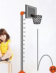 adesivos de parede decalques de parede, quadros modernos basquete indivíduo altura combinada de parede pvc vara adesivos