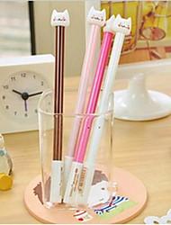 милые Ручки гелевые кошка разработка пластиковые (случайный цвет x1PCS)