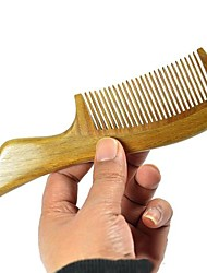 High Quality 18x4.8cm Green Sandalwood Wooden Comb Health Comb