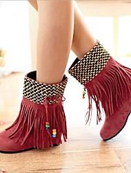 sapatos femininos rodada toe ankle boots calcanhar plana mais cores disponíveis