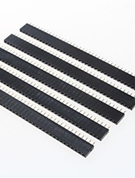 GDW AZ13 40-Pin 2.54mm Pitch Pin Headers - Black (5 PCS)