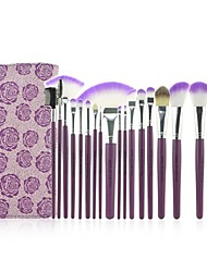 Make-up For You® 18pcs Makeup Brushes setProfessional Purple  Shadow/Blush/Lip/Powder/Foundation Brush Makeup Kit Cosmetic Tools