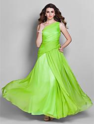 Formal Evening Dress Plus Sizes Sheath/Column One Shoulder Floor-length Chiffon