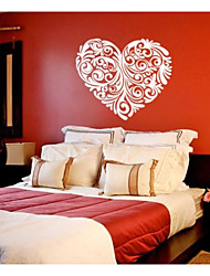 jiubai ™ de modèle de coeur de décalque de mur d'autocollant de mur de décoration à domicile
