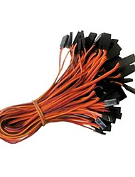 Palm Red Orange 26AWG JR Male and Female Straight Extension Wire Servo Lead L=300MM (20PCS/Bag)