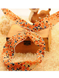Korean Floral Wire Rabbit Ear Hair Band Random Delivery