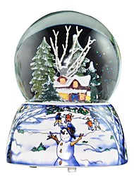 Snowing Crystal Ball Christmas Music Box.