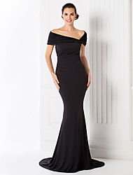 TS Couture® Formal Evening / Black Tie Gala Dress - Elegant / Vintage Inspired Plus Size / Petite Trumpet / Mermaid Off-the-shoulderSweep / Brush