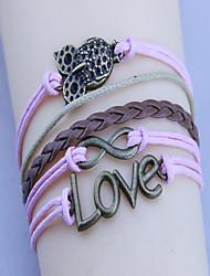 love love pulsera de la armadura 8 vendimia búho de las mujeres