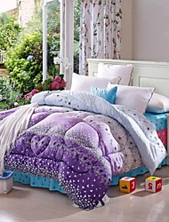 Shuian® Comforter Winter Quilt Keep Warm Thickening  Quilts with Printing Flower Pattern