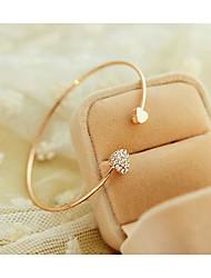 coreano coração bracelete de diamantes padrão cristal viva das mulheres