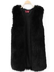 XT Long Fur Waistcoat_55 (White,Gray,Black)