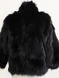 XT Short Fur Coat_78 (Black,White)