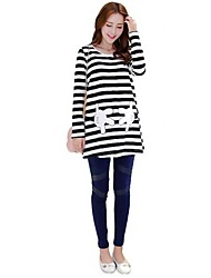 Maternity's Striped long-sleeved Top