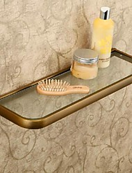 Bathroom Shelf Antique Bronze Wall Mounted L50*W12cm(L20*4.7inch) Brass / Glass Antique
