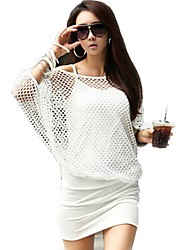 Korea Trendy Black White Summer Casual Party Mini Dress Women's Hollow Sexy Dress