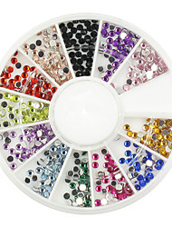 550 stuks multi-color glitter strass voor tip nail art decoratie