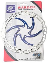 warder 180mm seis furos de aço inoxidável disco de freio da bicicleta