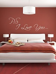 JiuBai™ I Love You Quote Art Wall Sticker Wall Decal