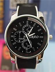 Hombre Reloj Cuarzo Reloj de Vestir Silicona Banda