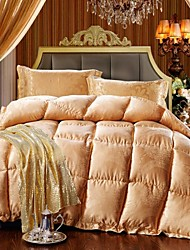 Shuian® Comforter Winter Quilt Keep Warm Thickening Plume Velvet Quilts with Jacquard Fabric and Gloden Color
