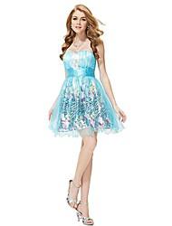 strapless azul de las mujeres alguna vez pretty® alborotó vestido corto imperio cóctel para el club