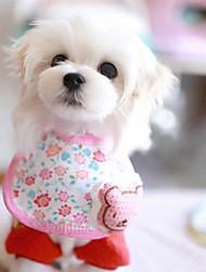 rosa Bär Muster Speicheltücher für Hunde