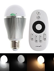 zweihnder e27 9w 850lm 2700-6500K 2.4GHz trasmissione rf lampadina led luce calda / bianco con telecomando (ac 85-265v)
