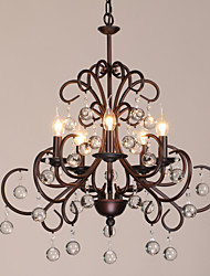 K9 Crystal Chandelier, 5 Light, Creative Dainty Iron Painting